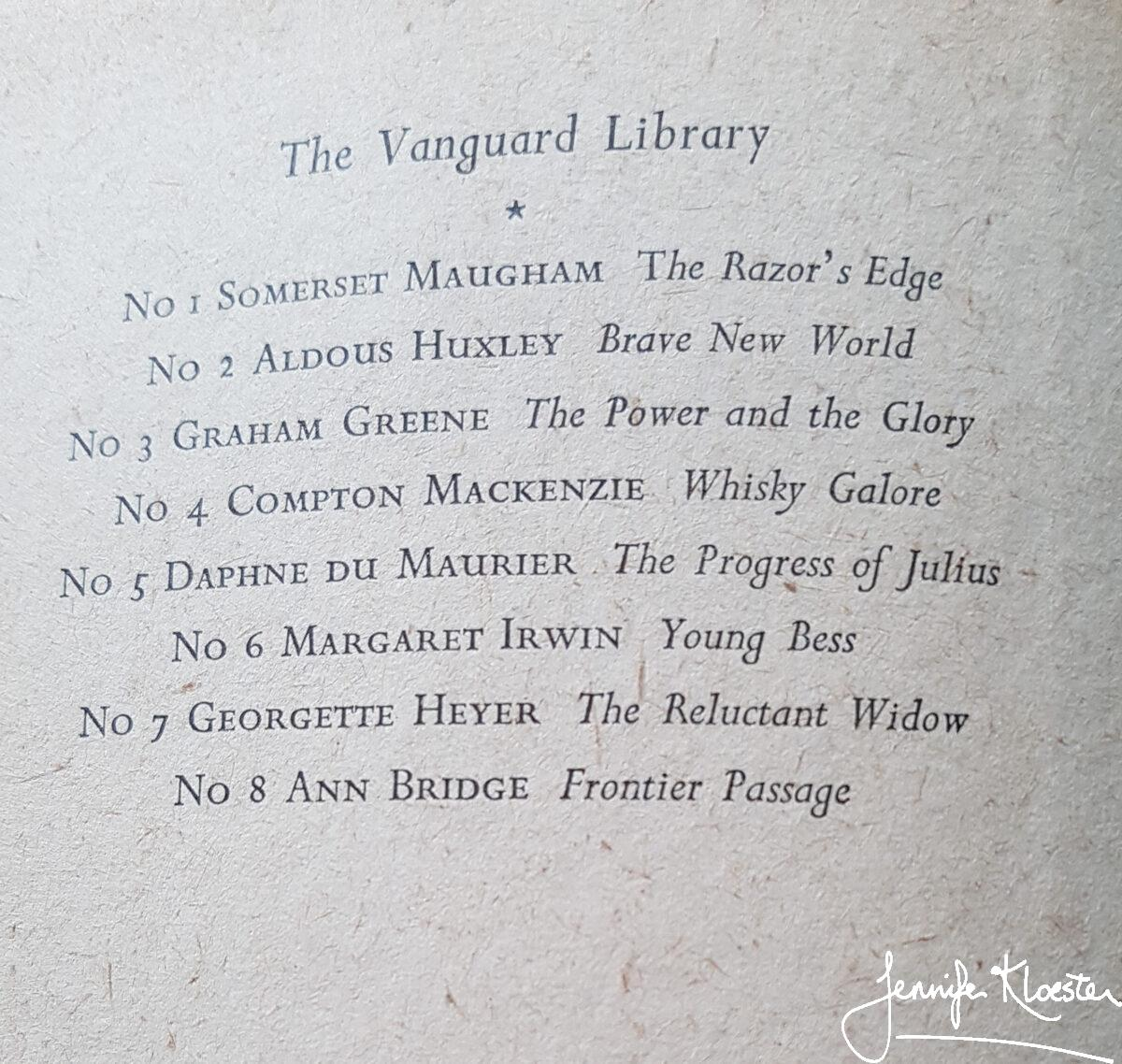 1952 the vanguard library in good company