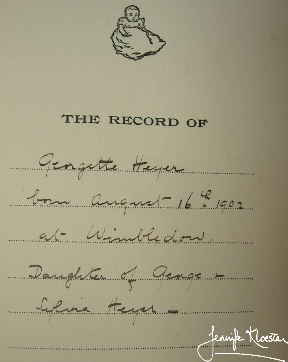 2. the record of georgette heyer