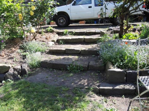 The old garden steps - endless weeding