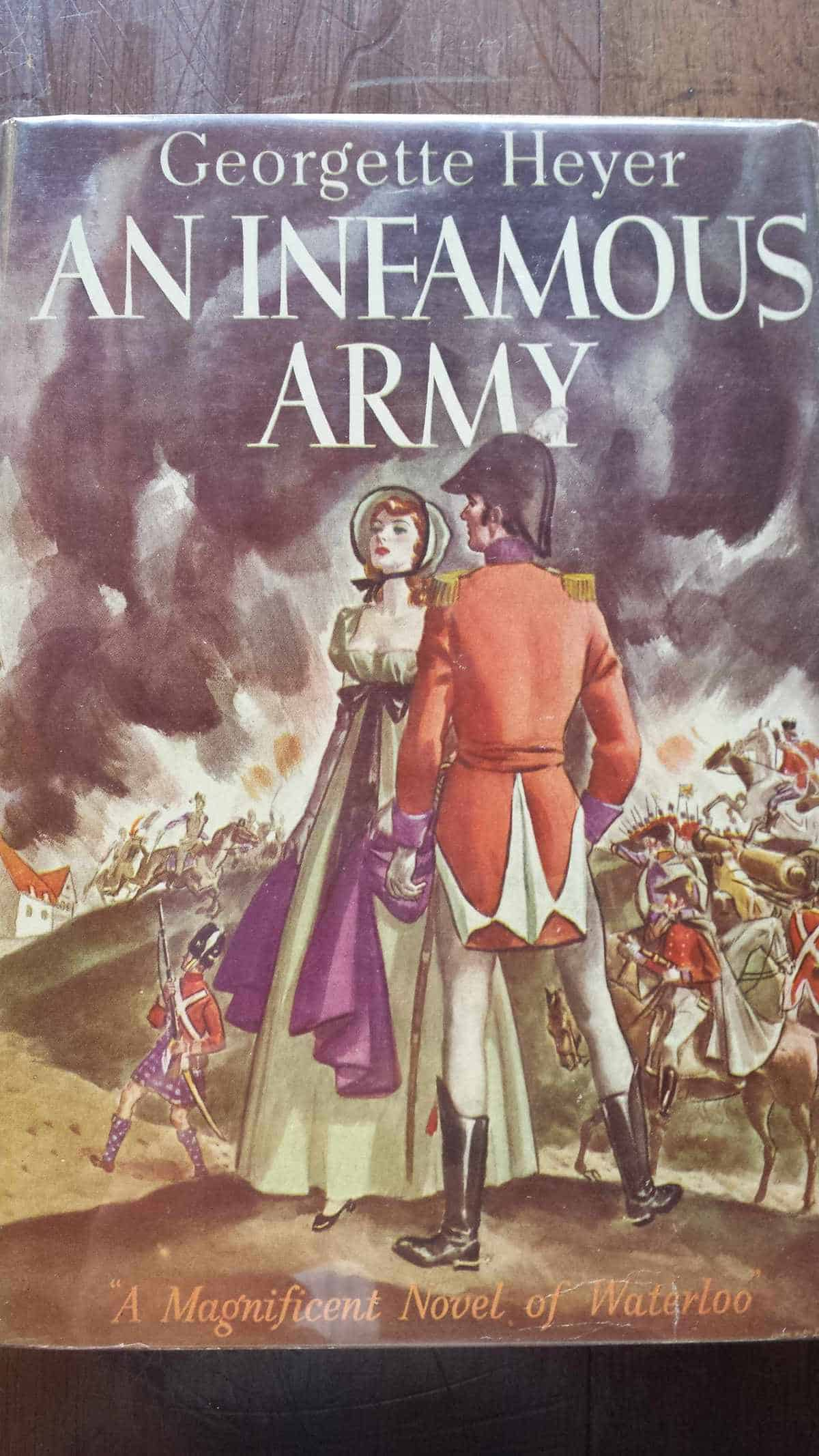 Georgette's novel of Waterloo An Infamous Army, the US first edition
