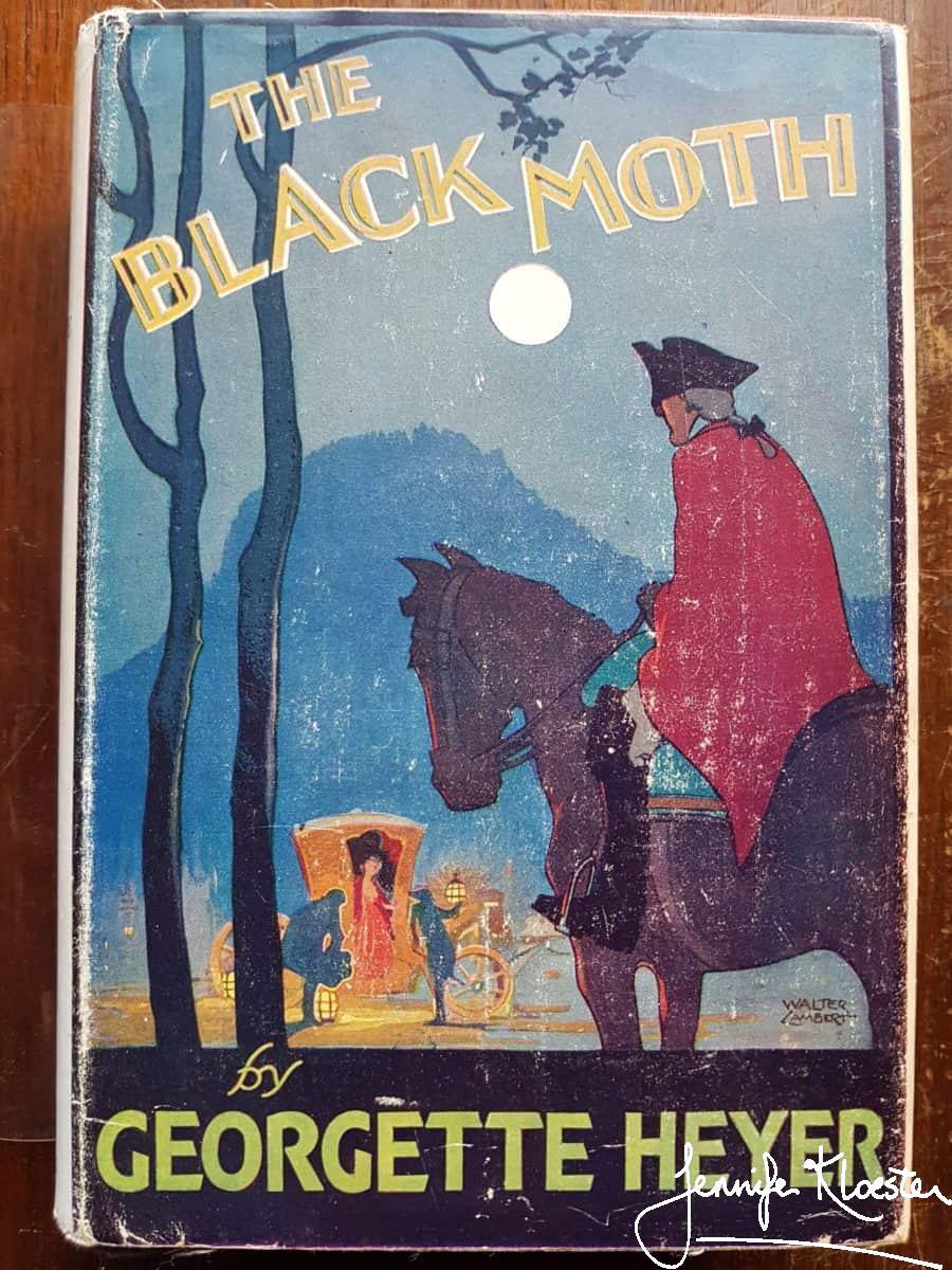 Georgette Heyer,dustjacket,mystery,The Black Moth,