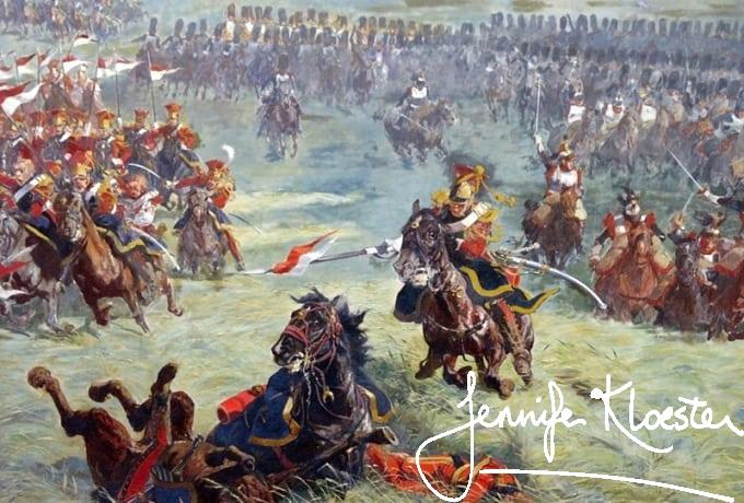 cavalry charge at waterloo