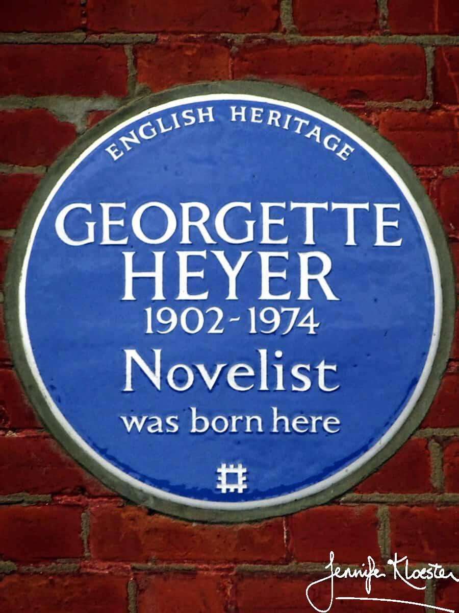 georgette heyer 1902 1974 novelist was born here 1 1