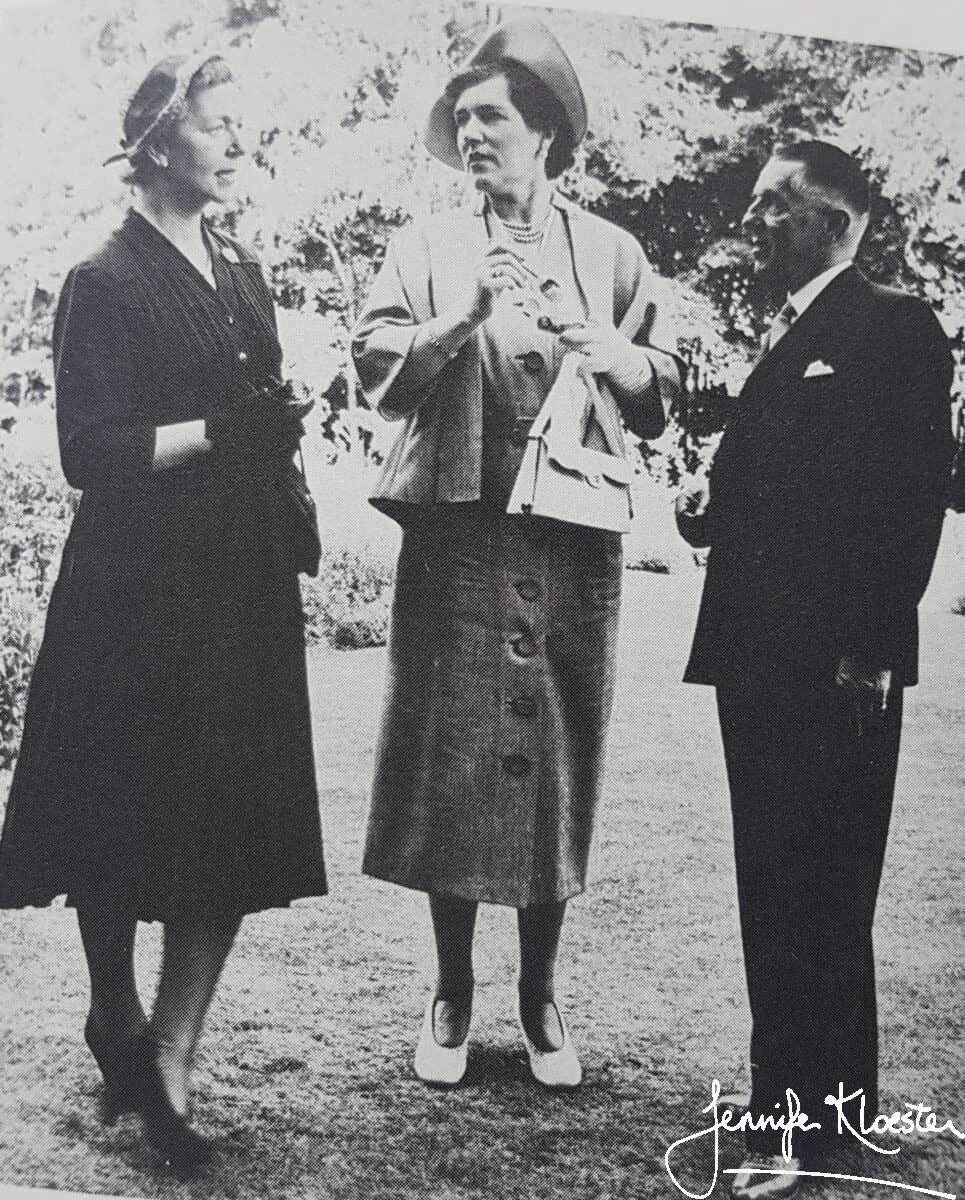 patricia wallace georgette heyer a.s. frere at the heinemann windmill garden party 1952